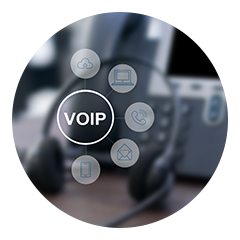 Voip Telephone being used by client in Asheville NC